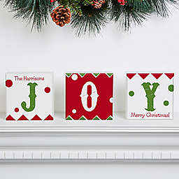 Jolly Jester Square Shelf Blocks (Set of 3)
