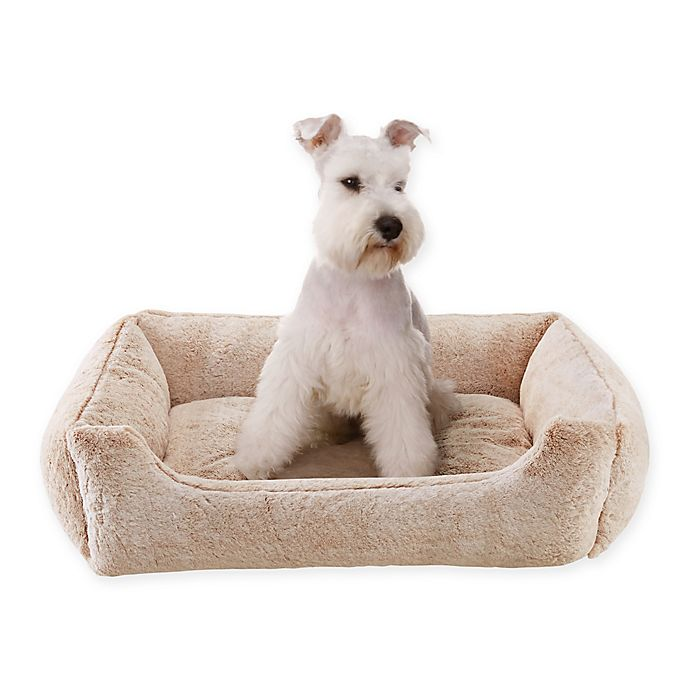 Alternate image 1 for Sleep Philosophy Rectangular Faux Fur Cuddler in Tan