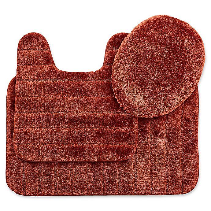 Alternate image 1 for Mohawk Veranda Bath Rugs in Rust (Set of 3)