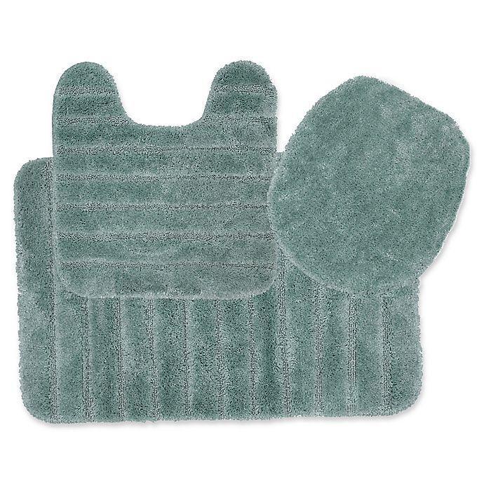 Alternate image 1 for Mohawk Veranda Bath Rugs in Aqua (Set of 3)