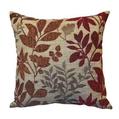 Bristol square throw pillow in burgundy bed bath beyond - What is a throw pillow ...