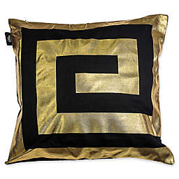 Kensie James Metallic Geo Square Throw Pillow Cover