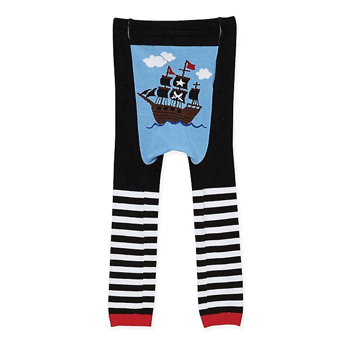 Alternate image 1 for Doodle Pants® Pirate Ship Leggings in Black