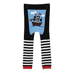 Doodle Pants® Pirate Ship Leggings in Black