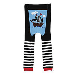 Doodle Pants® Pirate Ship Leggings in Black