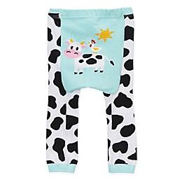 Doodle Pants® Cow Leggings in Blue