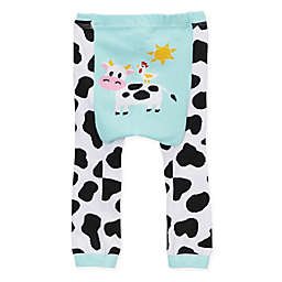 Doodle Pants® Cow Leggings in Blue