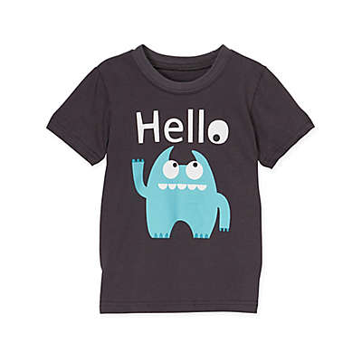 "Doodle Pants® Monster ""Hello"" T-Shirt in Blue"