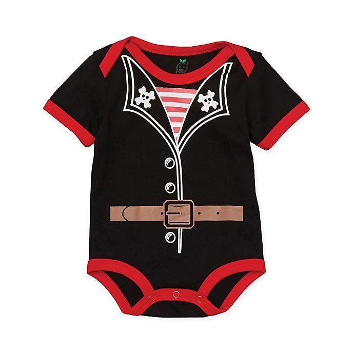 Alternate image 1 for Doodle Pants® Size 12M Pirate Bodysuit in Black
