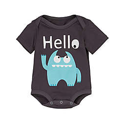 "Doodle Pants® Monster ""Hello"" Bodysuit in Blue"