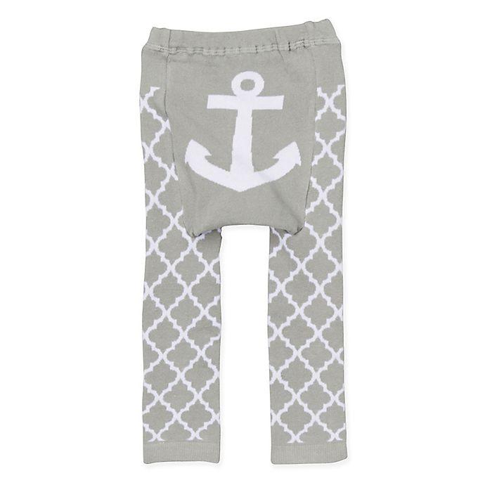 Alternate image 1 for Doodle Pants® Anchor Leggings in Grey