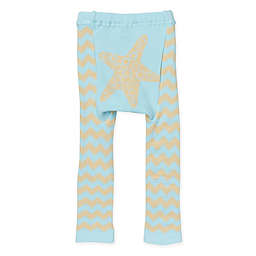 Doodle Pants® Chevron Starfish Leggings in Blue