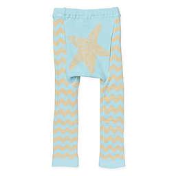 Doodle Pants® Chevron Starfish Leggings in Blue