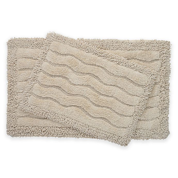 Alternate image 1 for 2-Piece Swirl Bath Rug Set in Ivory