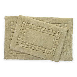 Greek Key 2-Piece Bath Rug Set in Sage