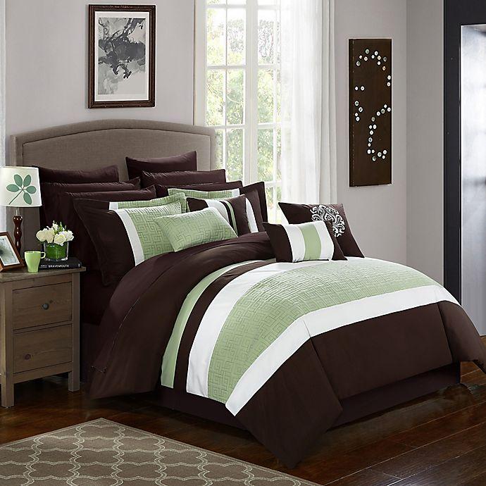 Alternate image 1 for Chic Home Seigel 16-Piece King Comforter Set in Brown