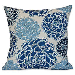 E by Design Olivia Flora Square Throw Pillow