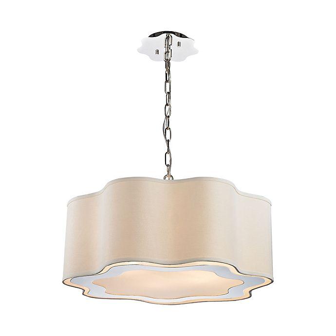 Alternate image 1 for Dimond Lighting Villoy 6-Light Ceiling Mount Pendant Light in Steel with Fabric Shade