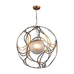 Oriona 3-Light Pendant in Antique Gold