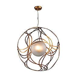 Oriona 3-Light Pendant in Antique Gold