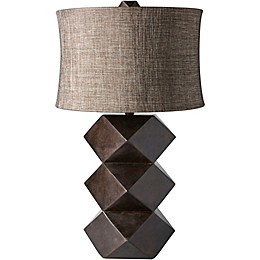 Surya Pinehurst Table Lamp in Dark Brown