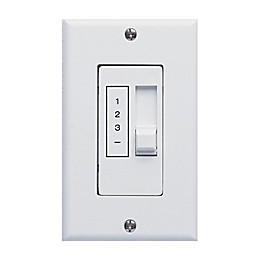 Concord Fans 3-Speed Slide Bar Control and On/Off Fluorescent Light Wall Control in White