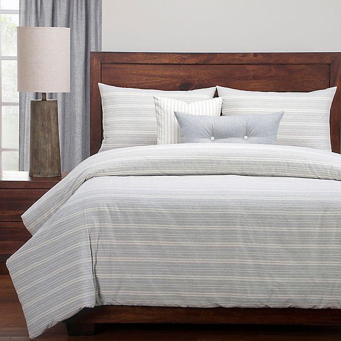 Alternate image 1 for SISovers® Cottage Full Duvet Cover Set in Grey/Beige
