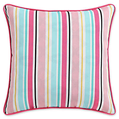 Clairebella Candy Stripe Indoor/Outdoor Square Throw Pillows (Set of 2)