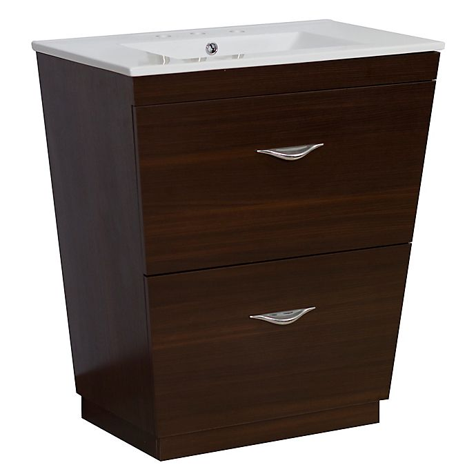 Alternate image 1 for 21-Inch Vee Vanity Set in Wenge