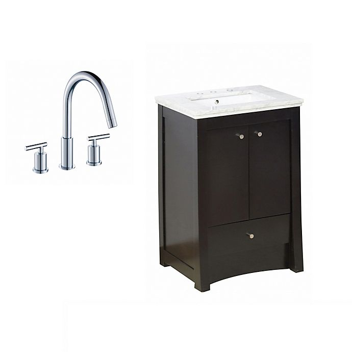 Alternate image 1 for 23.75-Inch Elite Vanity Set in Walnut with 8-Inch CUPC Faucet