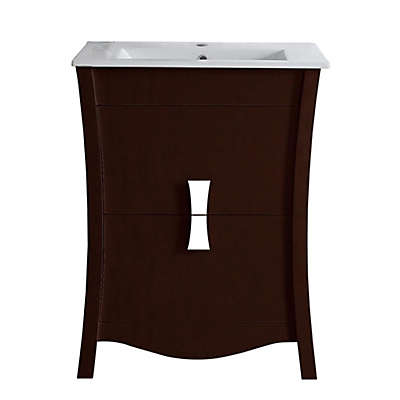 23.75-Inch Bow Vanity Set in Coffee