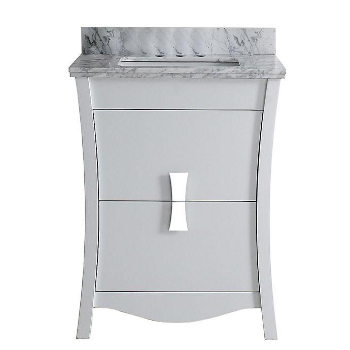 Alternate image 1 for 23.75-Inch Bow Vanity Set in White