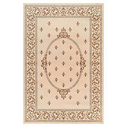Jewel Collection Medallion 7-Foot 10-Inch x 9-Foot 10-Inch Area Rug in Ivory