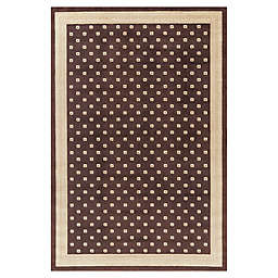 Jewel Athens 7-Foot 10-Inch x 9-Foot 10-Inch Area Rug in Brown