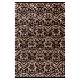 Jewel Damask 7-Foot 10-Inch x 9-Foot 10-Inch Area Rug in Black