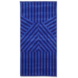 Geometric Beach Towel in Blue