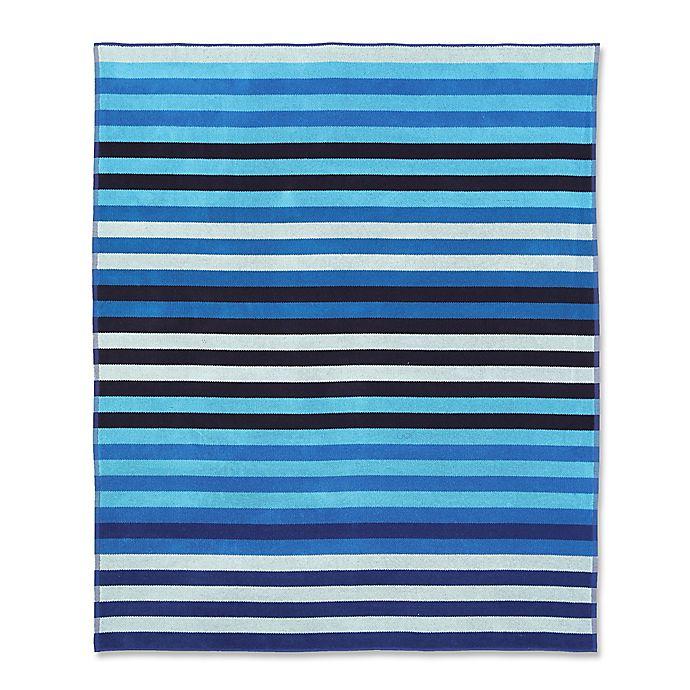 Alternate image 1 for Stripe For 2 Beach Towel in Blue