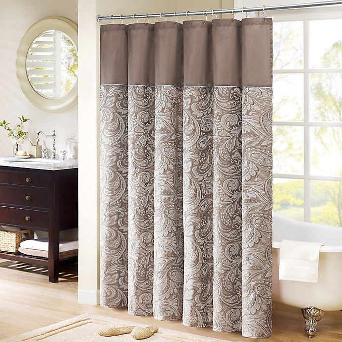 Madison Park Aubrey Extra Long Shower Curtain