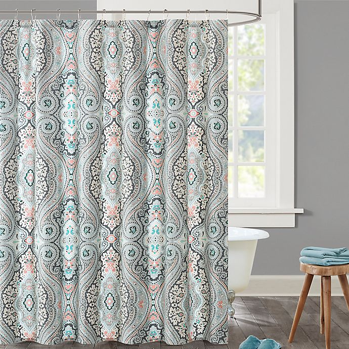 EchoTM Sterling Shower Curtain In Blue Red