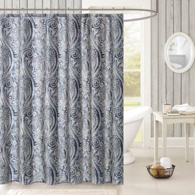 Harbor House Stella Shower Curtain In Navy Grey Bed Bath