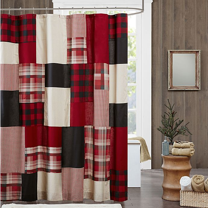 Woolrich 174 Sunset Winter Hills Shower Curtain In Red Bed