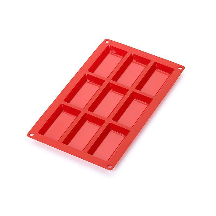 Alternate image 1 for Lékué  9-Cavity Fanancier Pan in Red