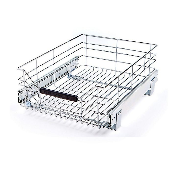 Seville Classics Wire Sliding Storage Drawer In Chrome Bed Bath