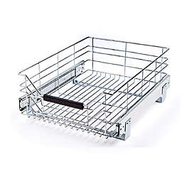 Seville Classics Wire Sliding Storage Drawer in Chrome