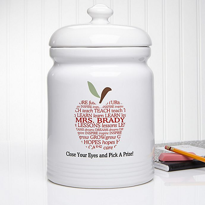 Alternate image 1 for Apple Scroll 10.5-Inch Treat Jar