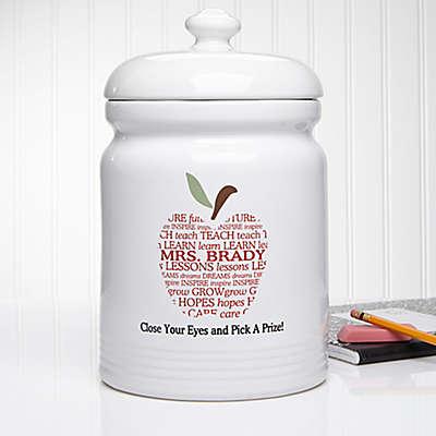 Apple Scroll 10.5-Inch Treat Jar