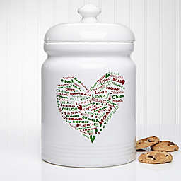 Her Heart of Love 10.5-Inch Christmas Cookie Jar