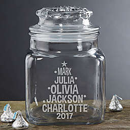 Christmas Family Tree Candy Jar