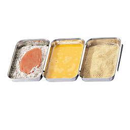 Kuechenprofi by Frieling 3-Piece Stainless Steel Interlocked Breading Pans Set