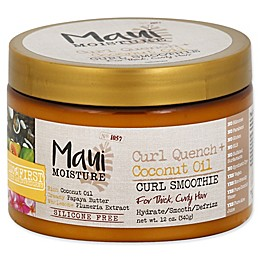 Maui Moisture Curl Quench + Coconut Oil 12 fl. oz. Curl Smoothie for Thick Curly Hair